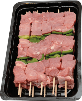 Turkey skewer with pepper
