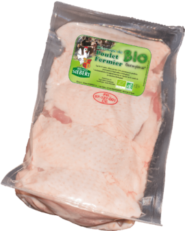Organic Chicken thigh deboned with skin
