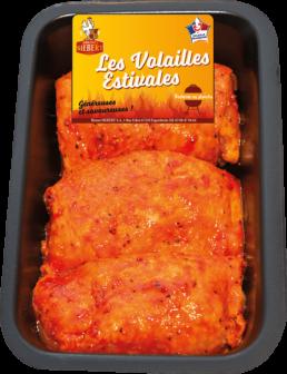 Steak de Poulet mariné paprika x3