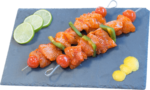 Turkey breast paprika marinated skewer