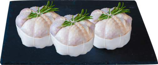 Chicken leg rolls stuffed with Riesling Wine