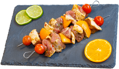 Duck breast citrus marinated skewer