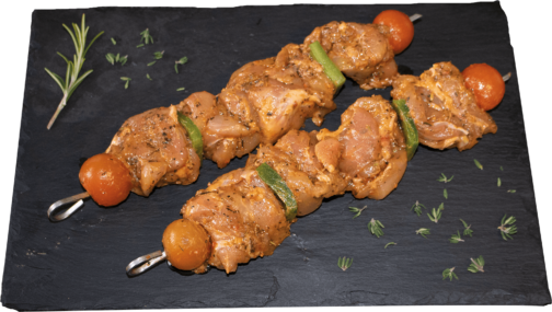 "Chicken leg meat skewer ""provençal"" marinated"