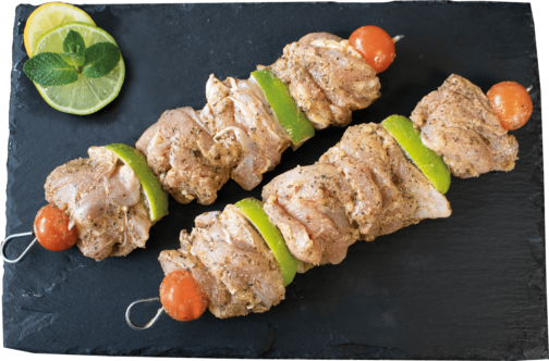 "Chicken leg meat skewer ""Summer flavours"" marinated"
